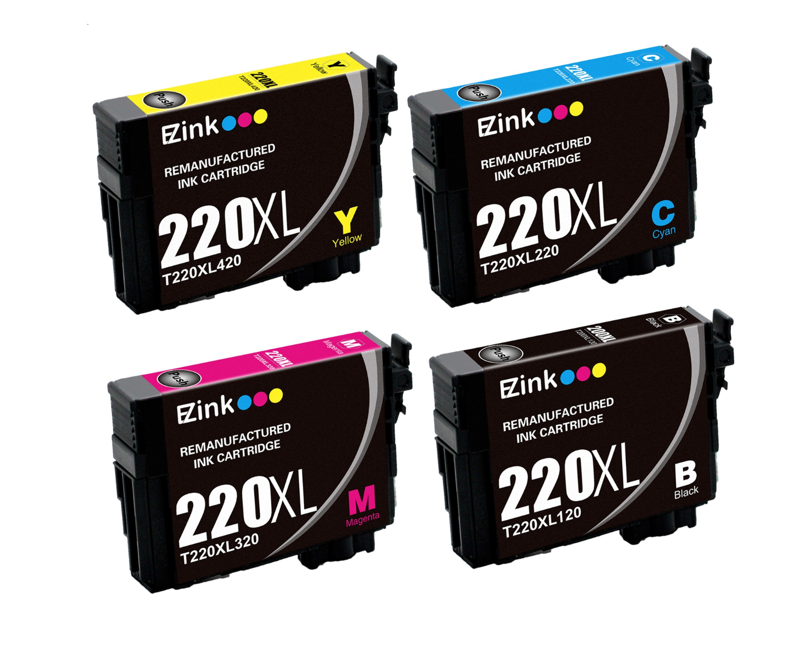 4PK For 220 220XL High Yield Ink Cartridges Fit Epson