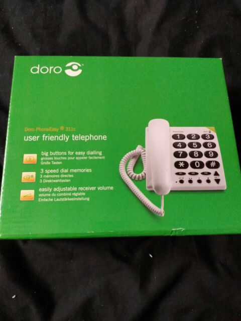 Big Button telephone Hearing Aid Compatible & Visually Impaired Landline phone