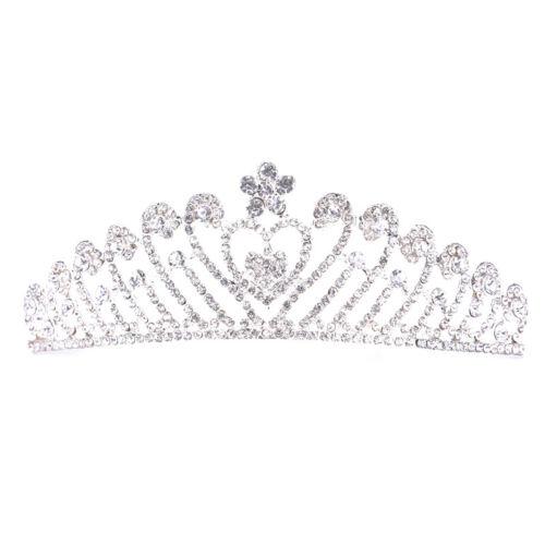 New Bride Wedding Rhinestone Heart-shaped Comb  Crown Tiara Wedding AccessPDH