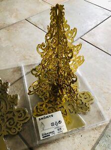Ikea Weihnachtsbaum.Details Zu Ikea Snömys Weihnachtsbaum Gold 3 D Deko Neu Ovp Nicht Erhältlich Rar Groß 35cm