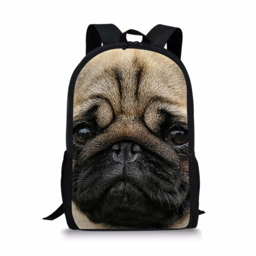 Animal Pug Dog Backpack For Student Back To Schoolbag Women Men Trendy Rucksack