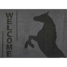 Haustür-Matte mit Pferd Fußmatte Matte schmutzaufnehmende Türmatte mit Bild