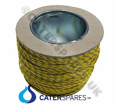 100 METRE ROLL HIGH TEMPERATURE HEAT RESISTANT YELLOW / GREEN EARTH WIRE 2.5MM
