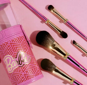 pur cosmetics barbie make up brush set with holder cup bag
