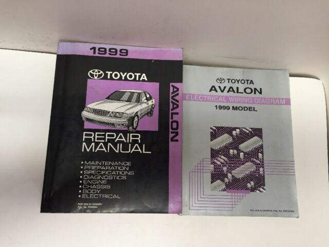 1999 Toyota Avalon Oem Factory Repair Manual And Electrical Wiring Diagram Set