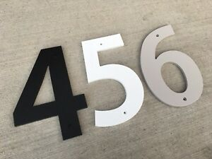 7 Inch Bold House Numbers Letters