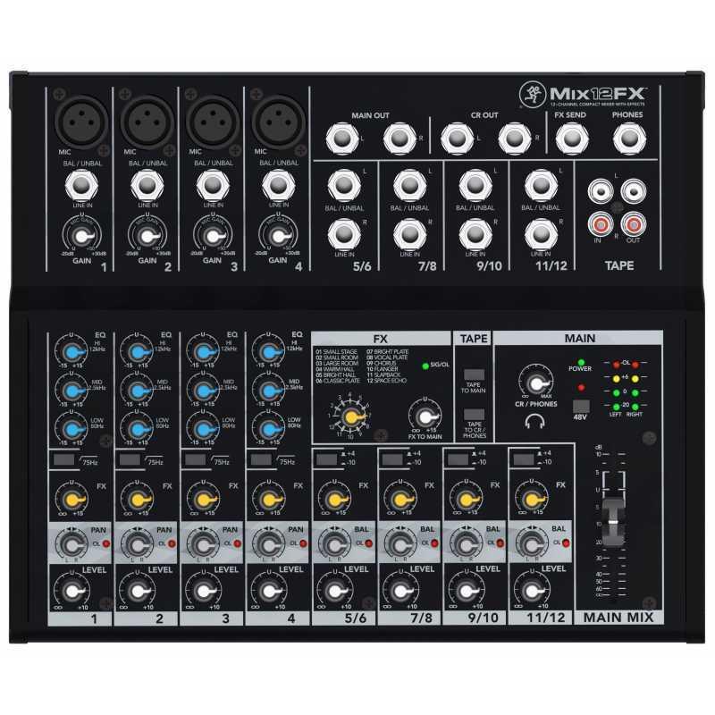 Mackie Mix12FX Mixer con effetti SPEDIZIONE GRATUITA