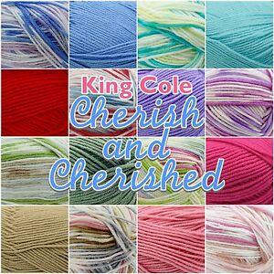King-Cole-Cherish-Cherished-Soft-Baby-Double-Knit-Knitting-Wool-Yarn-100g-Ball