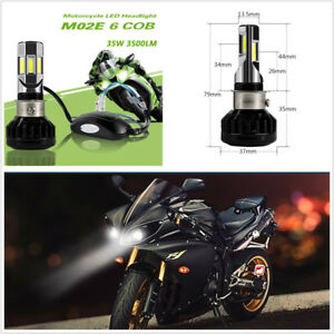 CLighting LED Motorcycle Headlight Bulb S2 BA20D 20W Hi//Lo Beam Headlamp for Yamaha Kawasaki Suzuki
