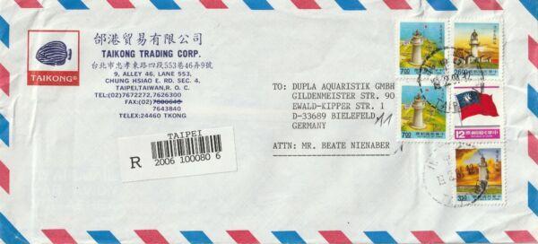 1994 Taïwan Oversize Inscrit Cover Envoyé De Taipei à Bielefeld Allemagne