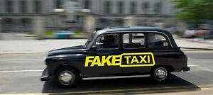 Image Is Loading 2 X Fake Taxi Sticker Car Surf Vinyl