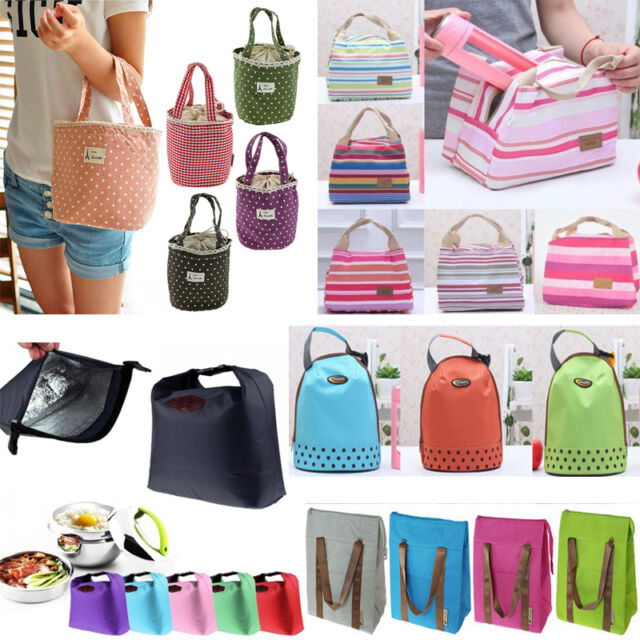 Portable Insulated Thermal Lunch Box Bags Outdoor Picnic Carry Tote Storage Bag