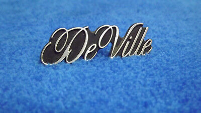 "OEM Cadillac Deville black chrome Rear Trunk emblem script badge nameplate 6/"""