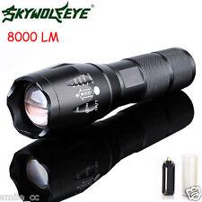 New 8000Lumen LED 18650/AAA Flashlight Zoomable Torch Focus Flashlight Lamp US