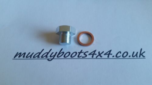 Land Rover Oil Sump Nut /& Washer 300Tdi Defender Discovery RR Oil Drain Plug