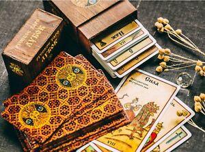 Tarot-Deck-Russian-Lubok-78-amp-Full-e-Guidebook-in-English
