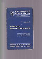 Manuale dell'Automobilista - Volume 1 Edizione 1961 AUTO CLUB
