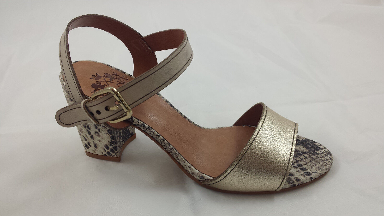 OTTO KERN 70430 Sandale SANDALETTE Platin Natur GOLD Gr Gr Gr 42 NEU 21ce29
