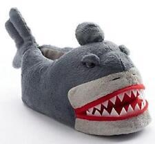 NEW Boys Youth HUNGRY SHARK Gray  SlipOn Slippers Shoes SZ 2/3
