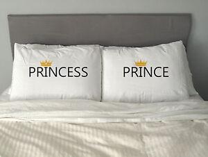 PRINCE & PRINCESS Pillow Case Valentine's Day Love Gift  Anniversary Present