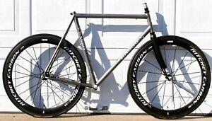 Basso-Titanium-Handmade-Road-Bike-Frameset-58cm-Chris-King-Carbon-Fork-Litespeed