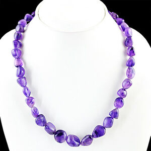 SUPERB-TOP-GRADE-285-00-CTS-NATURAL-RICH-PURPLE-AMETHYST-UNHEATED-BEADS-NECKLACE