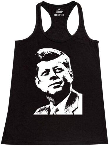 Kennedy President Political Tee JFK Silhouette Racerback Tank Top John F