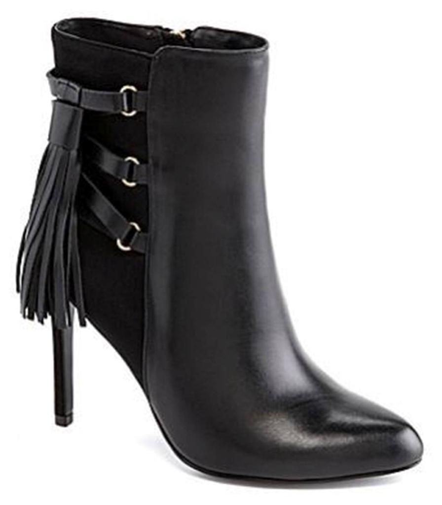 vendite dirette della fabbrica donna scarpe Adrianna Papell ISABELLE Tasseled avvioies avvioies avvioies stivali Heels nero Leather  miglior prezzo migliore