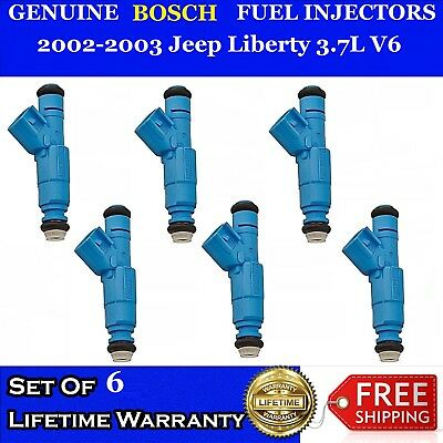 6Pcs 3.7L Fuel Injectors Flow Tested /& Cleaned Fits For JEEP LIBERTY