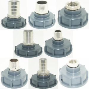 Details about 1000L IBC water tank heavy duty BSP adaptor valve Garden Hose  Adapter Fittings