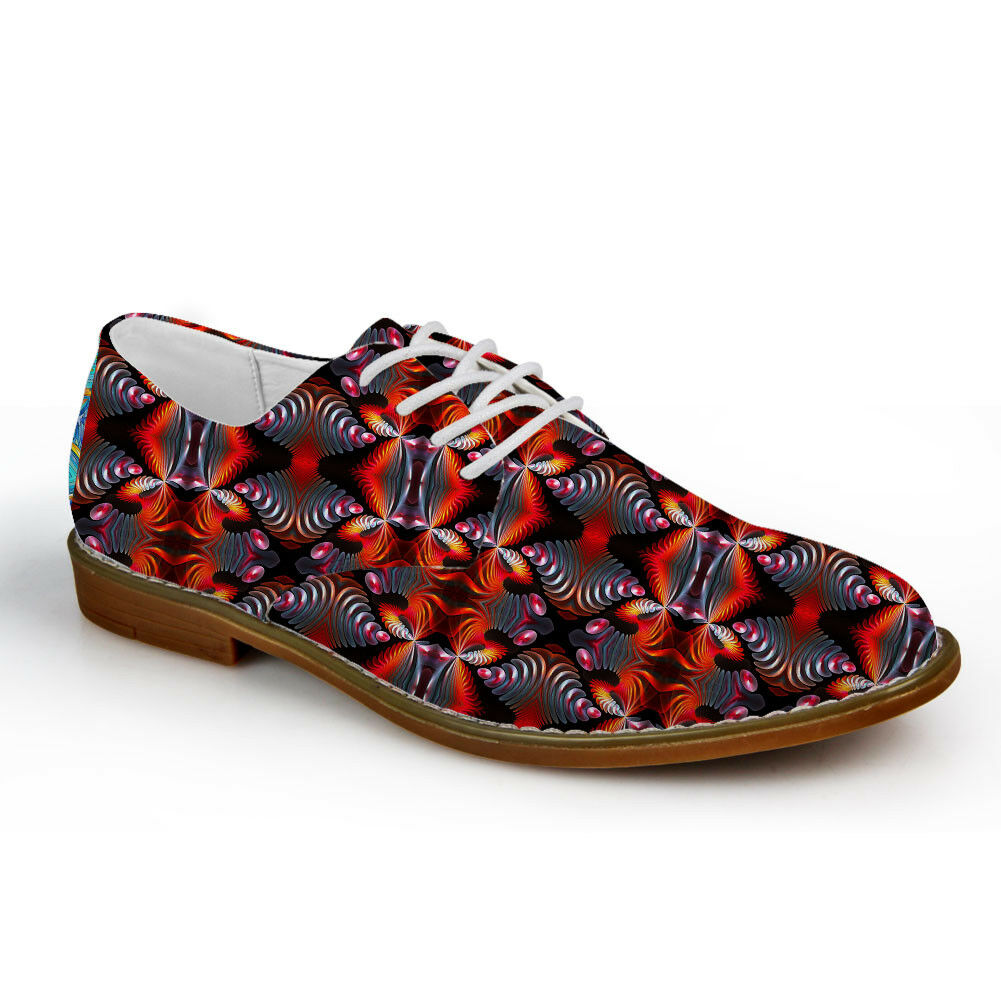 Retro Brogue Men Oxford Lace Up Leisure shoes Fiber Leather Vintage Loafers Soft