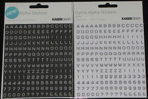 Kaisercraft Alpha /& number stickers 28 selection U select
