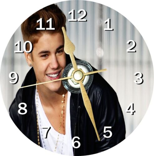 Justin Bieber Novelty Cd Clock Can be personalised