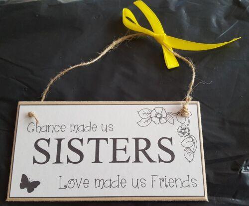 En bois MDF Craft signe porte plaque CHANCE nous a fait Sœurs amour nous a fait des amis