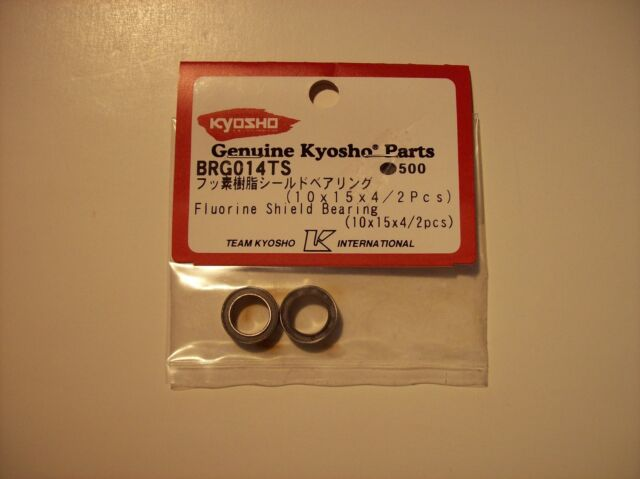 KYOSHO #BRG014TS 10 X 15 X 4mm FLOURINE SHIELD BEARINGS FOR ULTIMA RT5 RB6