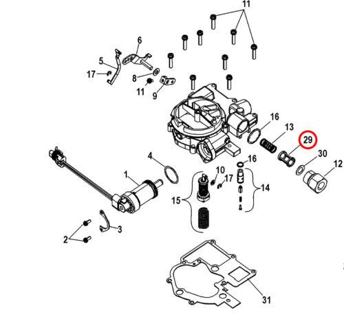 Bootsteile Zubehr 35 53336q Quicksilver Mercruiser Carburetor