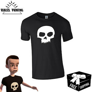 fad46d6cb29f69 Toy Story Inspired Sid Skull T-shirt-Costume,Dressup,Buzz Lightyear ...