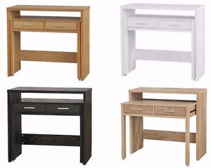 Nexus Beech / Oak Effect / Black / White Console Table Living Room / Hallway