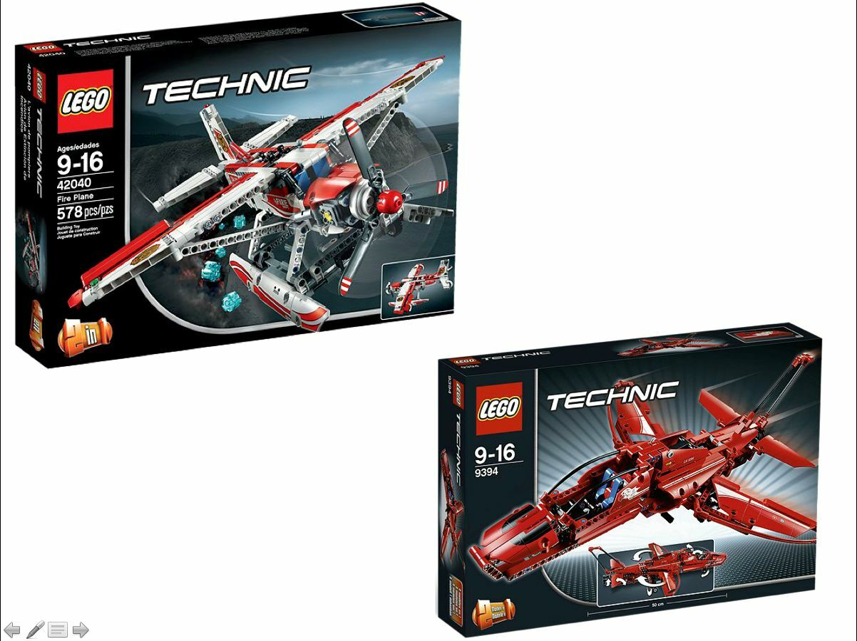LEGO ® Technic Set 9394 + 42040 getti -  & löschflugzeug NUOVO _ JET & Fire Plane nuovo  nuovi prodotti novità
