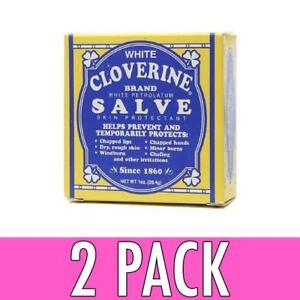 Cloverine Salve 1 oz (Pack of 2) Faces Firming Eye Cream Karanja Oil & Organic White Tea 15ml/0.5oz