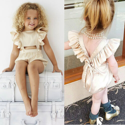 Sweet Toddler Baby Girls Kids Outfit Bodysuit Romper Jumpsuit Sunsuit Clothes