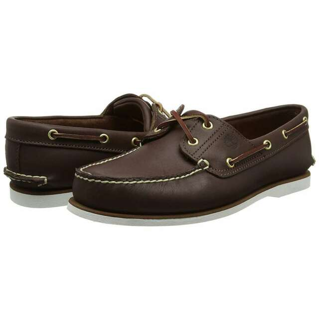 Size Timberland For Dark Brown Men Shoes Boat Classic 2 8m Eye qCF0q