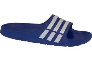 adidas Duramo Slide Adilette Badelatschen True Blue white 7