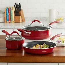 The Pioneer Woman 27 Piece Vintage Aluminum Cookware Combo Set Red For Sale Online Ebay