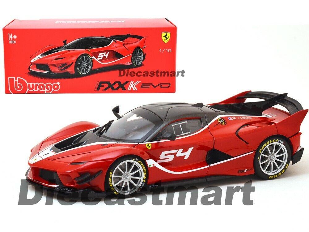 Bburago 1 18 Ferrari Fxx-K Evo  54 Modelo Fundido Firma Serie Rojo 18-16908RD