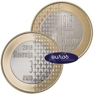 Piece-3-euros-SLOVENIE-2018-100eme-anniversaire-de-la-fin-de-la-Guerre-14-18