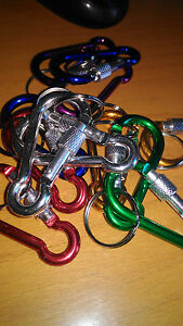 Un-moschettone-con-bloccaggio-6-cms-alluminio-colori-portachiavi-chiavi-colore