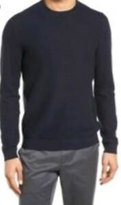 Crew 'marlin' 3 Neck Size Nwot Men's Ribbed Navy Ted Sleeves Pullover Baker wSTRqH6