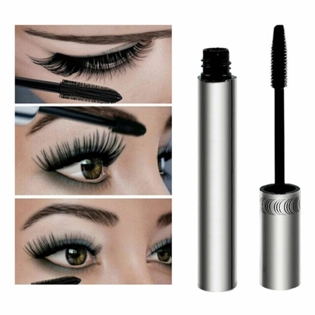 3D Natural Fiber Waterproof Black Mascara Eyelash Long Curling Lashes Extension