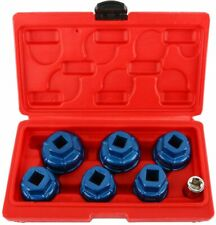 7pcs Oil Filter Cap Wrench Cup Socket Tool Set Fit For Vauxhall Mercedesvw